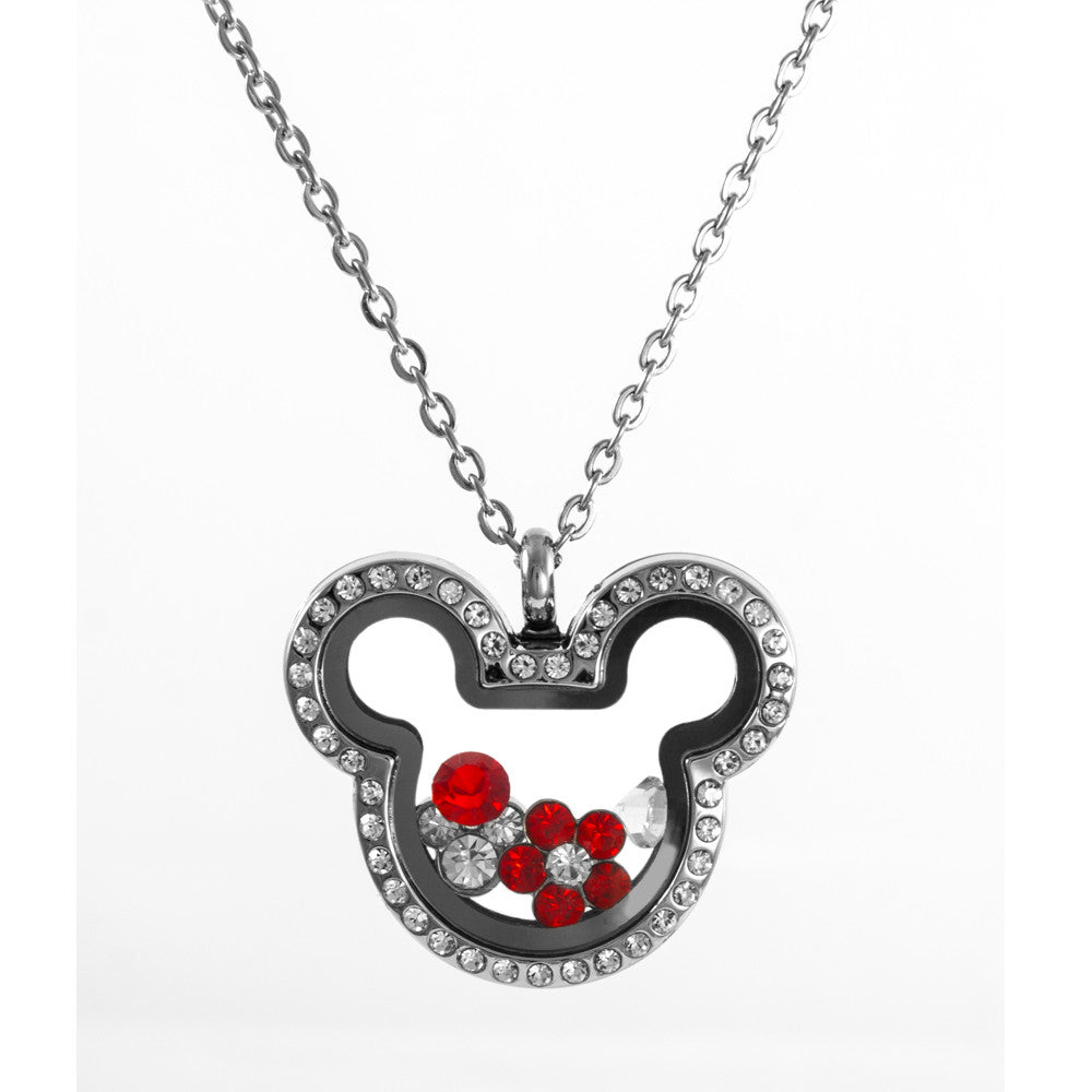 Floating Mickey Inspired Locket with Choice of 6 Charms