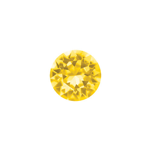 November Round Crystal Birthstone - Sunflower