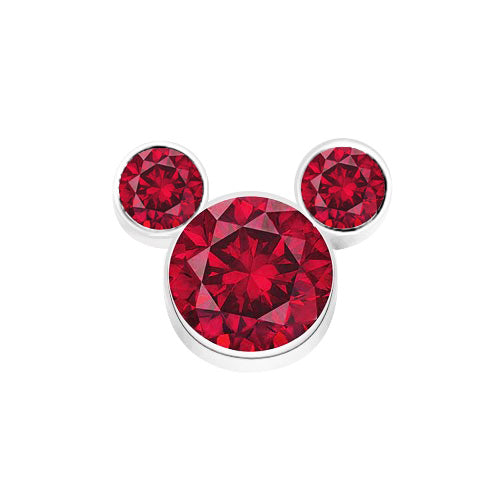 Red Crystal Mickey Inspired Charm