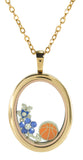 Floating Locket Oval with Choice of 6 Charms