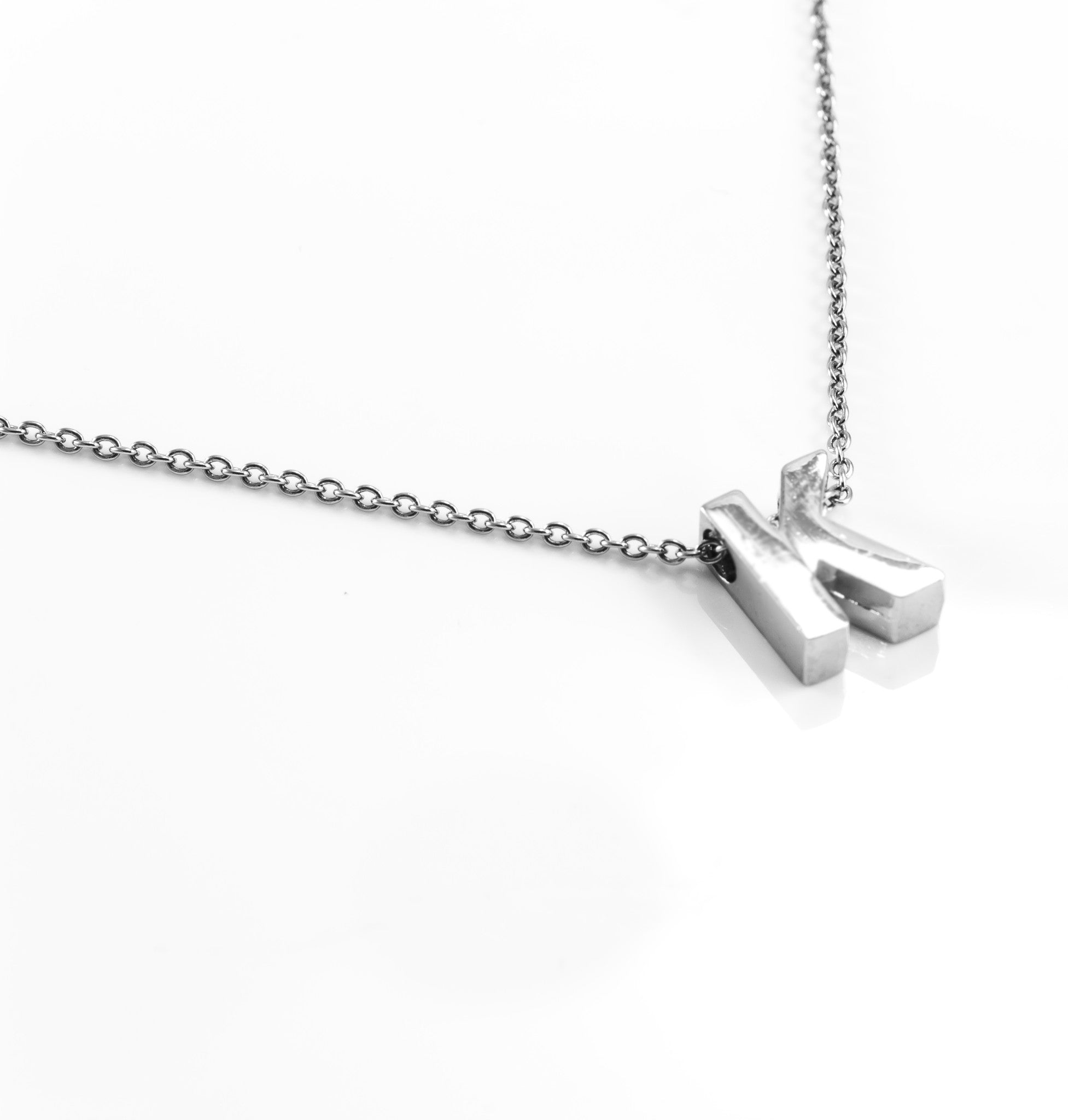 Silver Dainty Letter Initial Necklace With 2 Letters By BG247®
