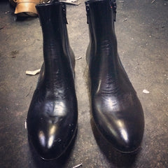 The Georgios Zipper Boot at the factory