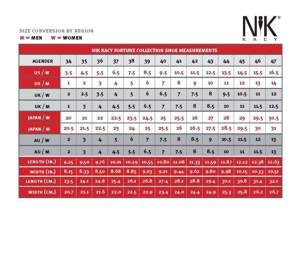 Shoe sizing conversion chart all genders nik kacy agender sizing nik kacy agender shoes size conversion apparel size chart geenschuldenfo Choice Image