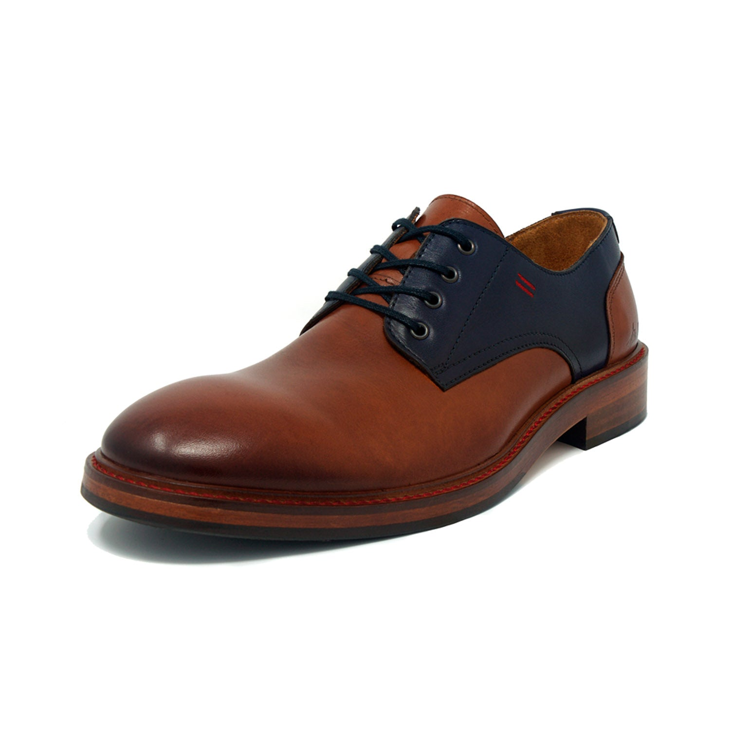 Versatile and Lux Classic Brown and Blue Two-Toned Derby's by NiK Kacy
