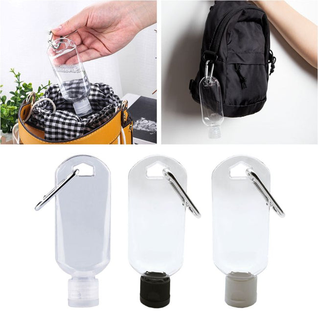 5 Piece Travel-size Refillable Bottle Keychains