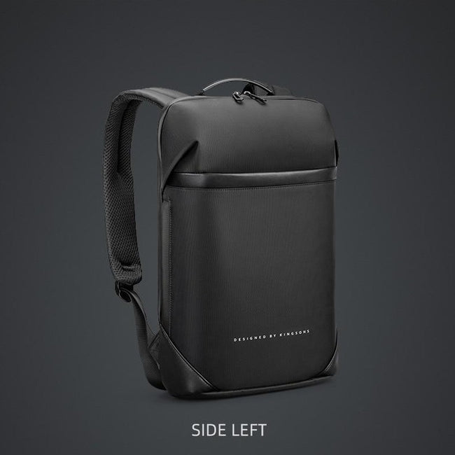 side left view of backpack