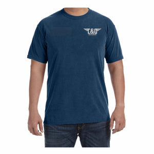"C&O Comfort Colors® Wing ""Modern Distressed"" T-Shirt - Midnight Navy"