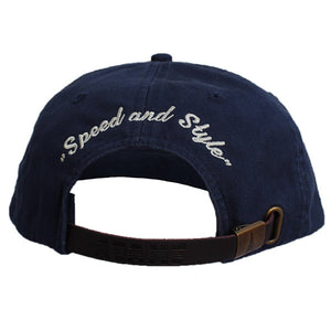 Hat C&O Embroidered, Washed Style - Navy Blue