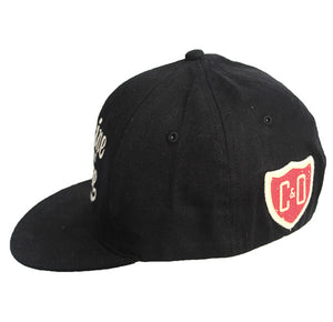 C&O Flat Bill Embroidered Hat - Black