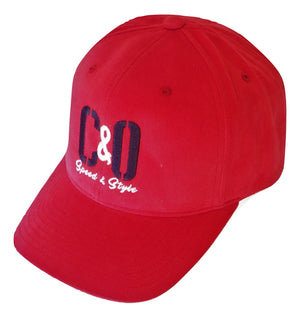 C&O Red Brushed Twill Hat
