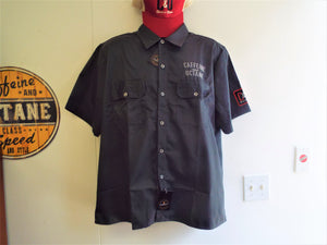 C&O Custom Embroidered Work Shirt - Charcoal
