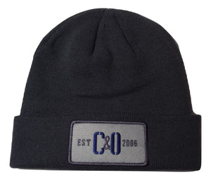 C&O Beanie (Grey Rectangle C&O Patch) - Charcoal