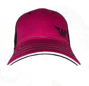 "C&O Trucker Hat ""Winged Logo"" - Hot Pink"