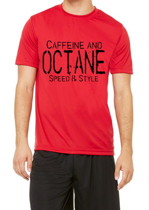 "C&O Red "" Caffeine and Octane Stamp "" Performance Shirt"