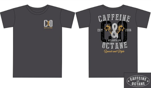 "C&O Grey and Gold ""Piston"" T-Shirt - Charcoal"
