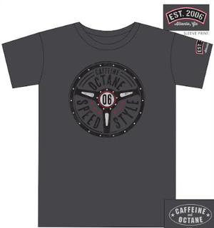 "C&O ""Steering Wheel"" 06 T-Shirt - Charcoal"