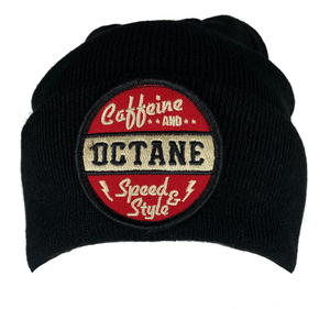 C&O Beanie (Red Vintage Logo Patch) - Black