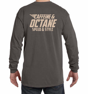 "C&O Long Sleeve Comfort Colors® ""Modern Distressed"" Shirt - Pepper"
