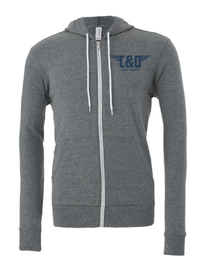 C&O Zip-Up Hoodie - Charcoal Heather Grey