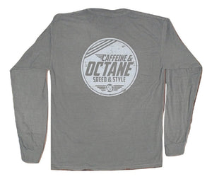 "C&O Long Sleeve Comfort Colors ""Modern Distressed"" Shirt - Grey"