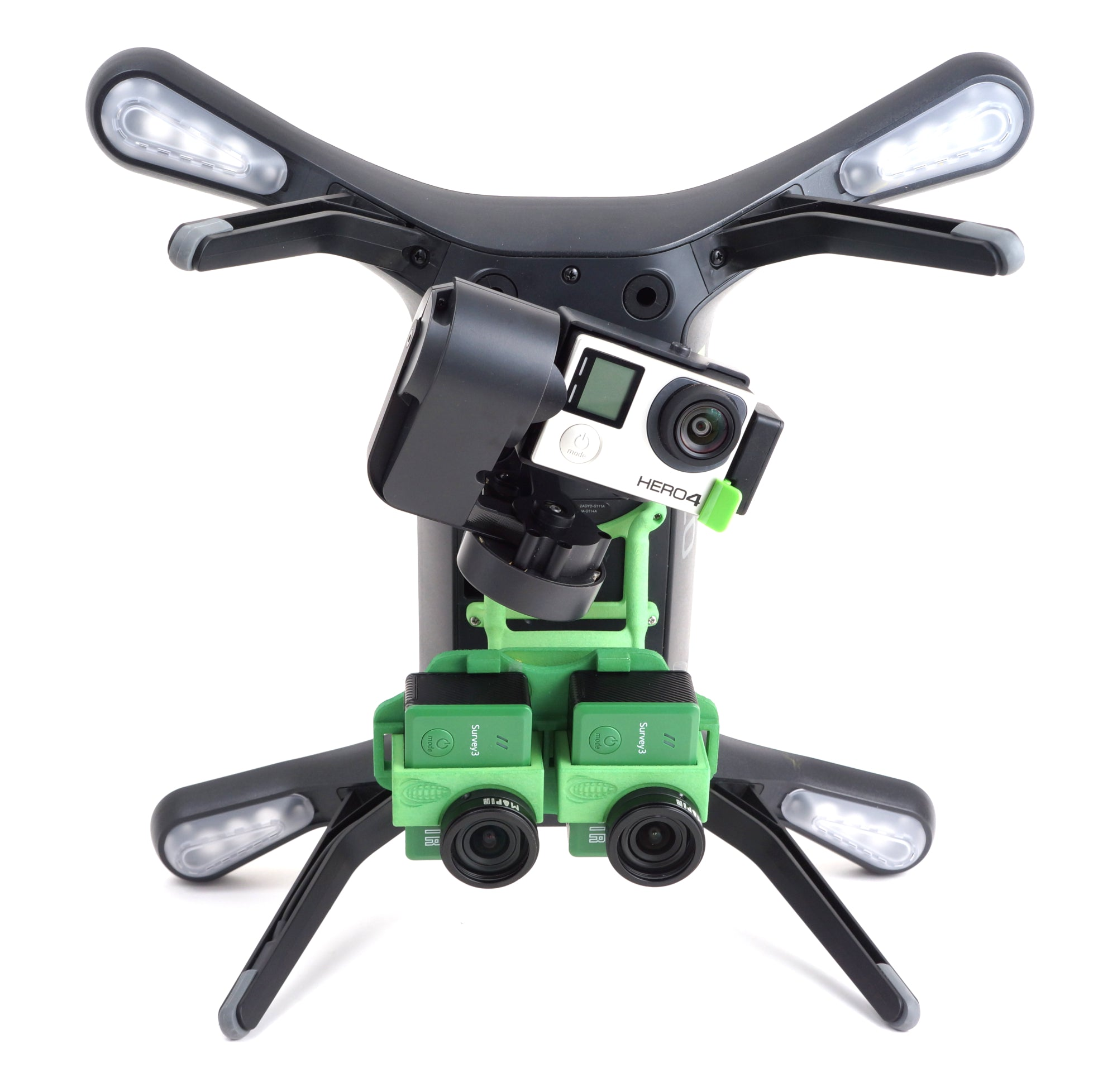 3DR SOLO Accessory Bay Tilting Mount - Dual Survey Cameras - 3DR Gimbal  Compatible