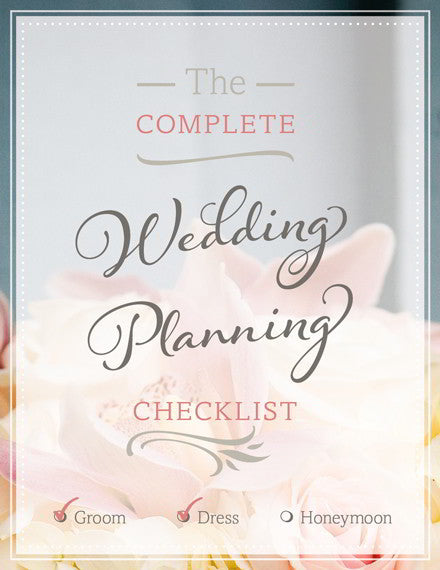 The Utlimate Wedding Planning Checklist