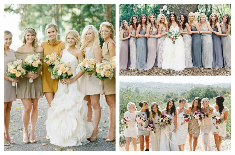 Six Creative Ways to Dress Your Bridesmaids
