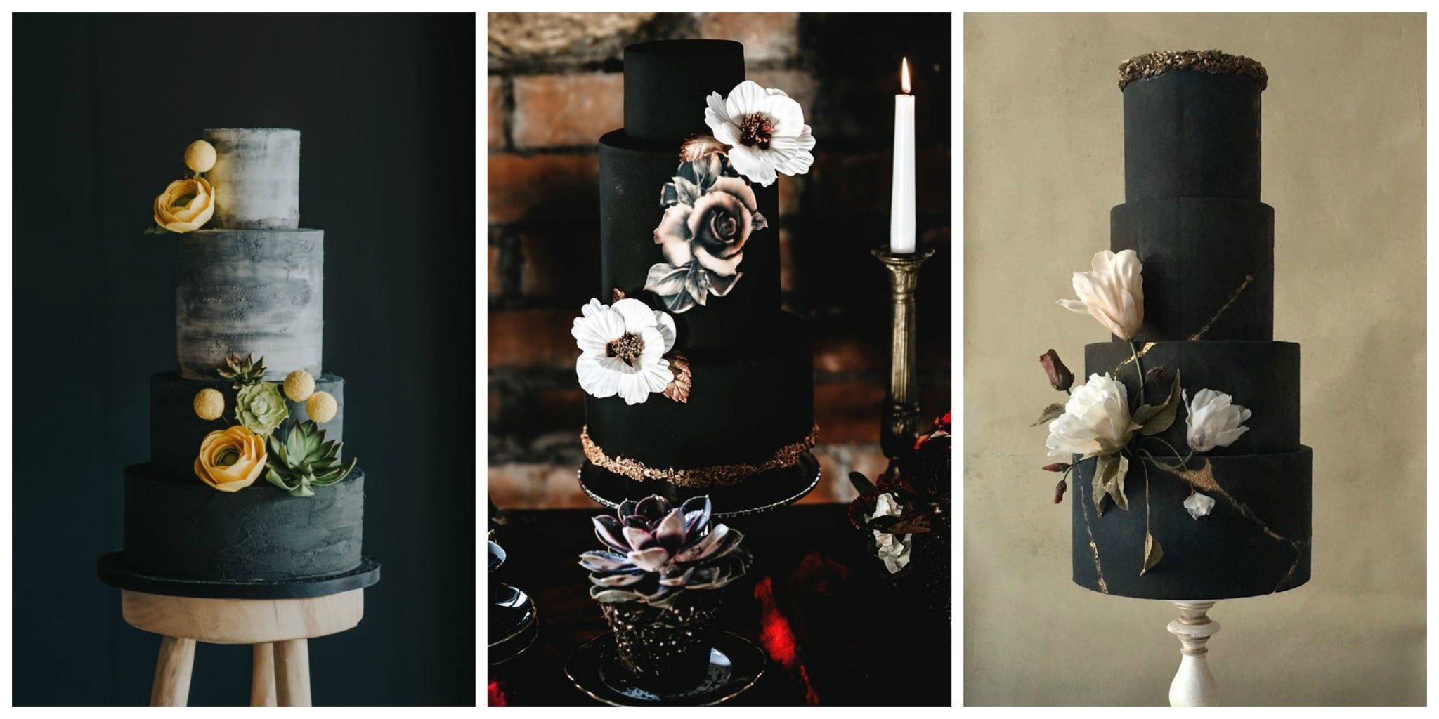 Simple Statement Black Wedding Cakes