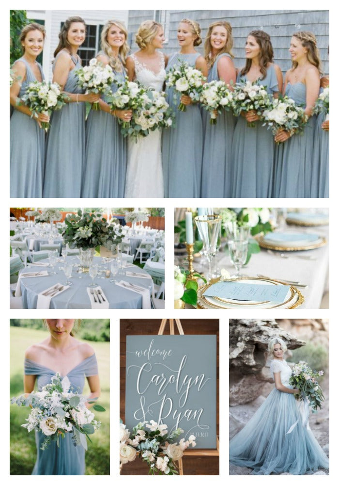 Dusty Blue and Greenery Wedding Inspiration