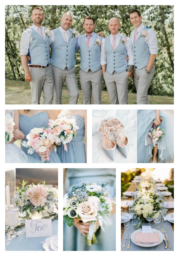 Dusty Blue and Pink Wedding Color Scheme