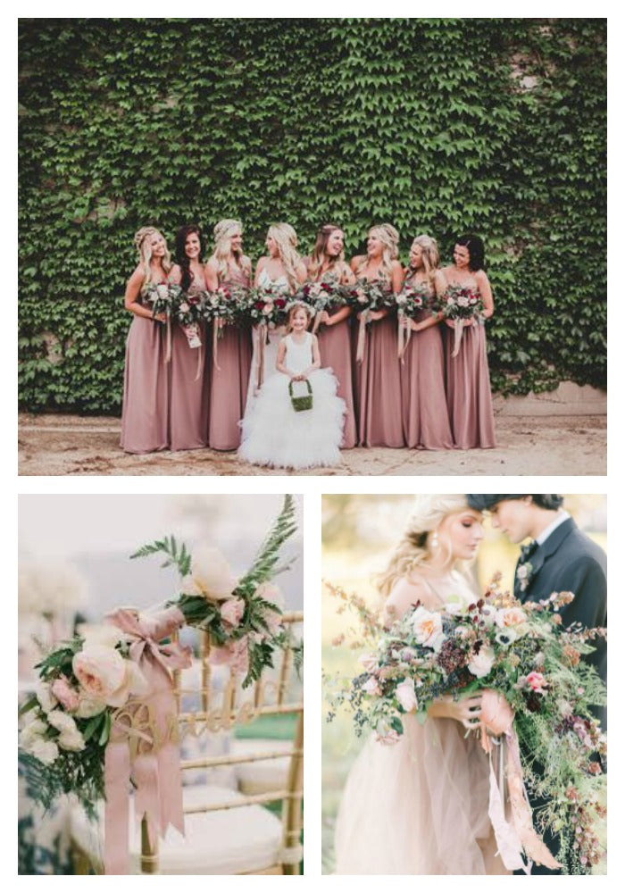 Dusty Rose and Green Wedding Inspiration