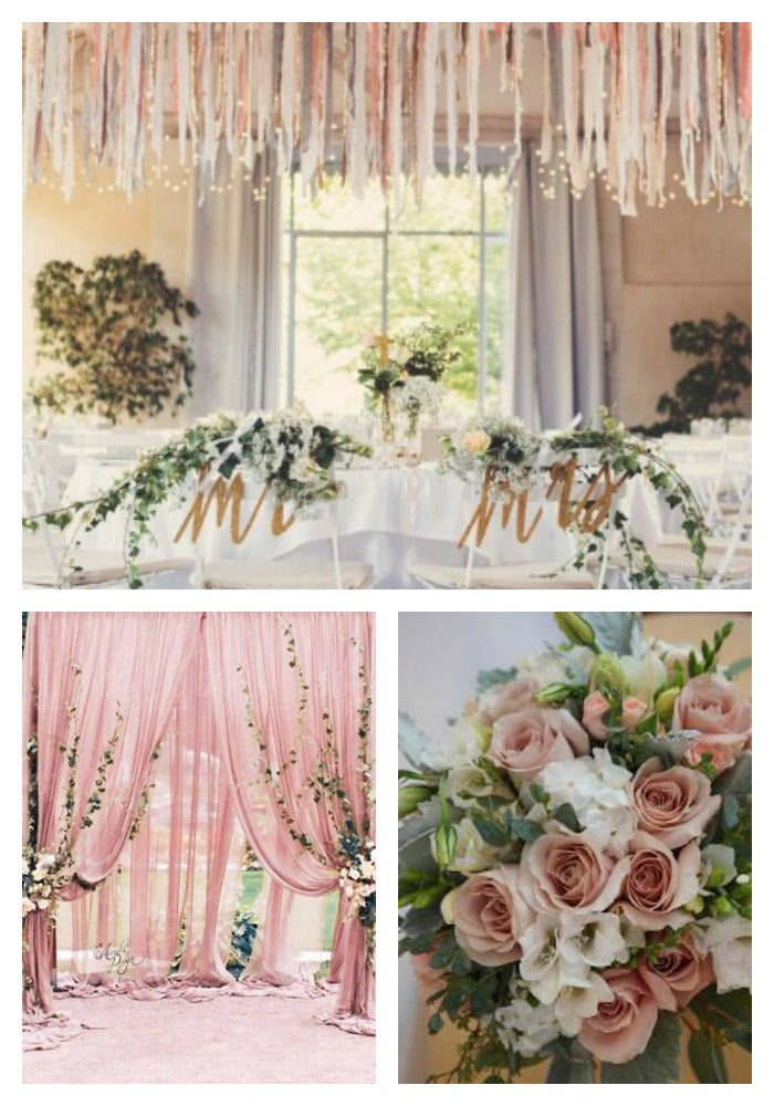 Dusty Rose and Green 2019 Wedding Colors