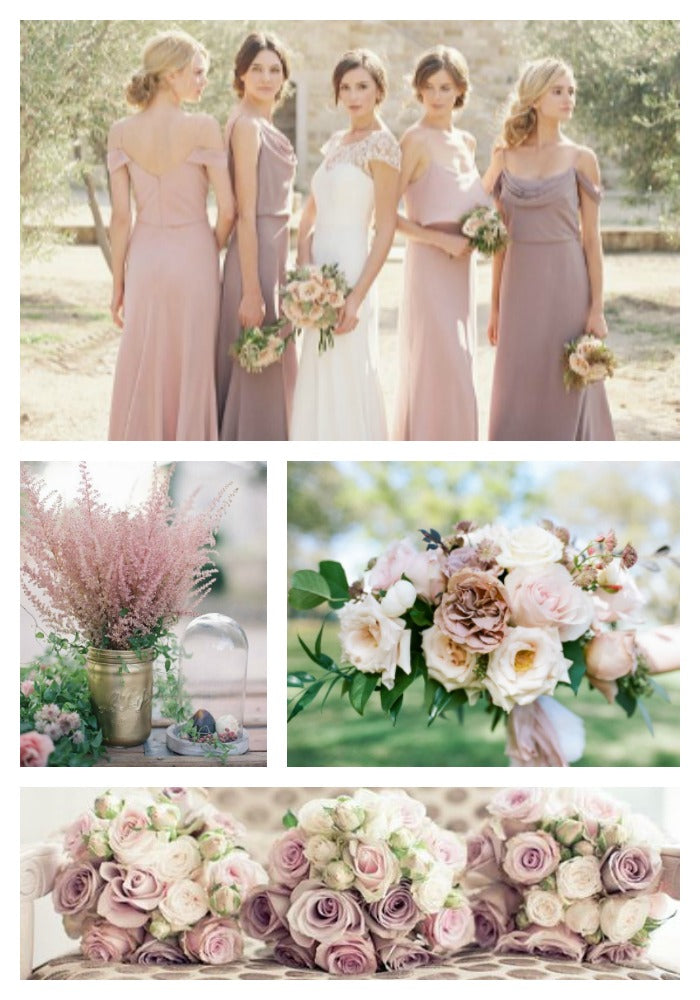 Dusty Rose and Mauve Wedding Scheme