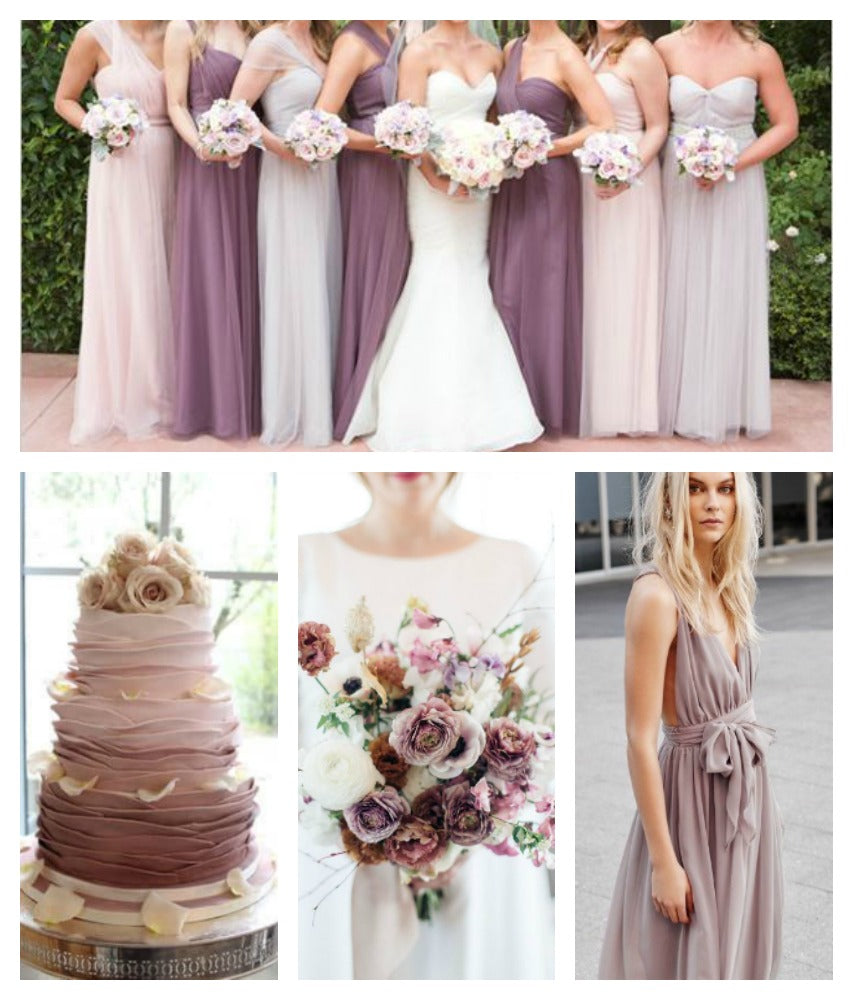 Dusty Rose and Mauve Wedding Color Scheme