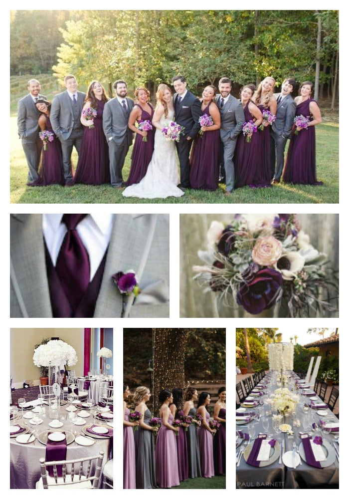 Plum and Grey 2019 Wedding Color Scheme
