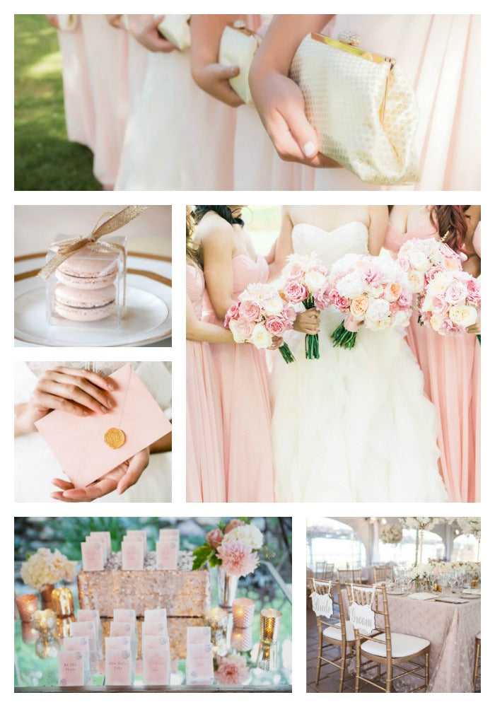 Rose Quartz and Gold