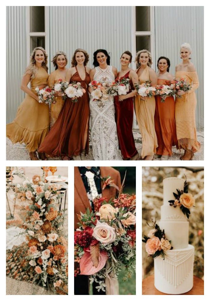 Sunset Orange Wedding Color Scheme