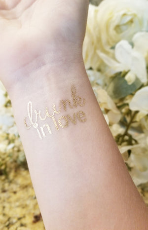 Drunk In Love Bachelorette Party Tattoos