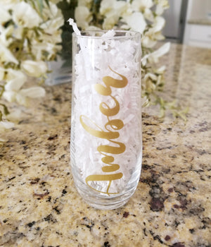 Personalized Bride To Be Champagne Glass
