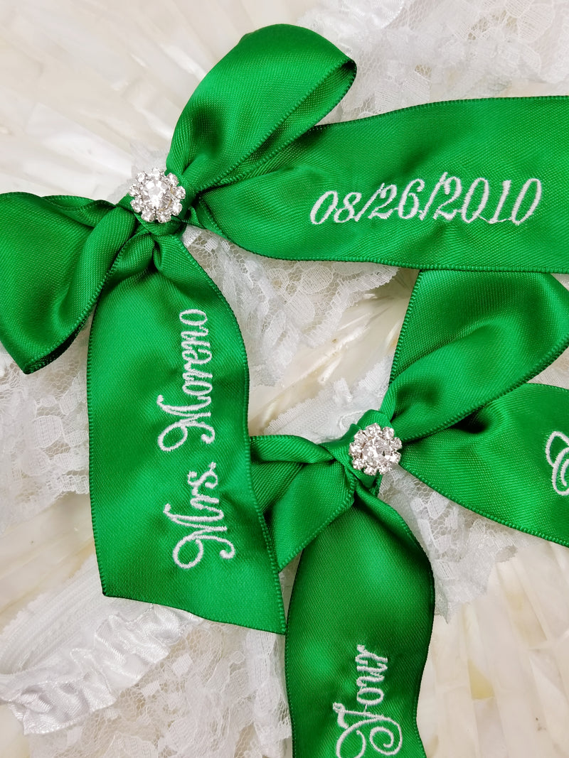 Emerald Green Bridal Garter