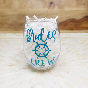 Brides Crew Stemless Wine Glass
