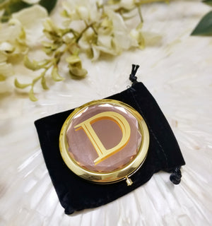 Compact Mirror With Black Gift Bag