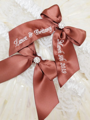 Brown Wedding Garter