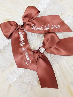 Brown Bridal Garter