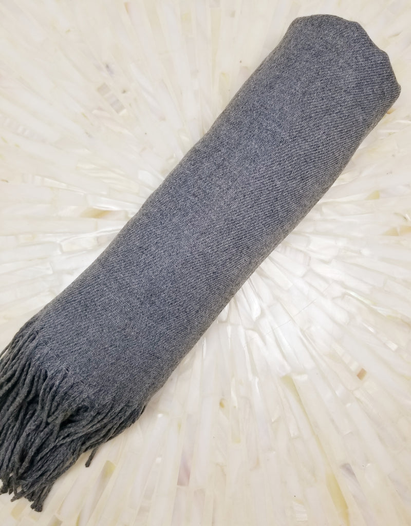Charcoal Grey Bridesmaid Pashmina Shawl