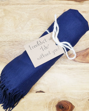 Navy Blue Bridesmaid Pashmina Shawl
