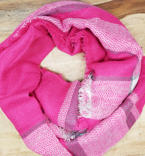 Hot Pink Blanket Scarf