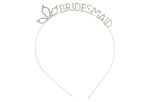 Silver Bridesmaid Headband for Bachelorette Party