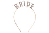 Gold Bride Headband for Bachelorette Party