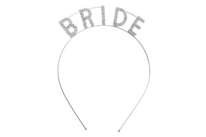 Silver Bride Headband for Bachelorette Party
